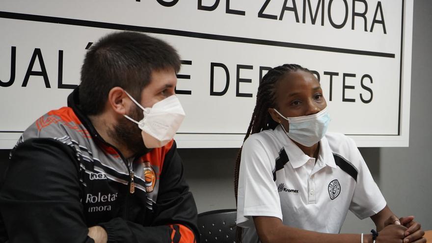"""Morgan Green, del Recoletas Zamora: """"Tenemos que estar centradas en cada entrenamiento"""""""