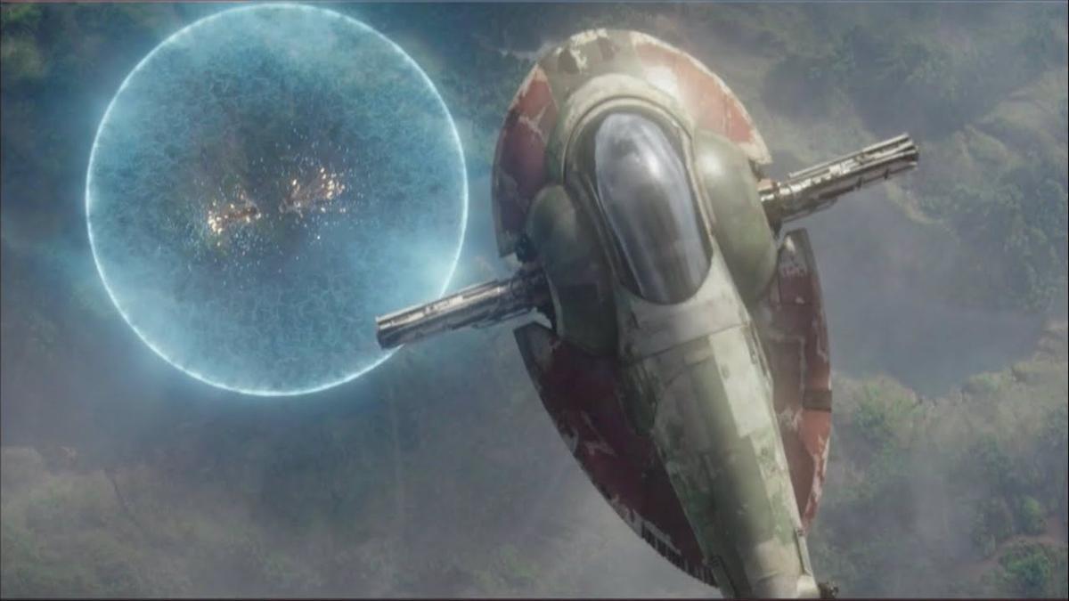 La nave 'Slave I' de 'Star Wars'.