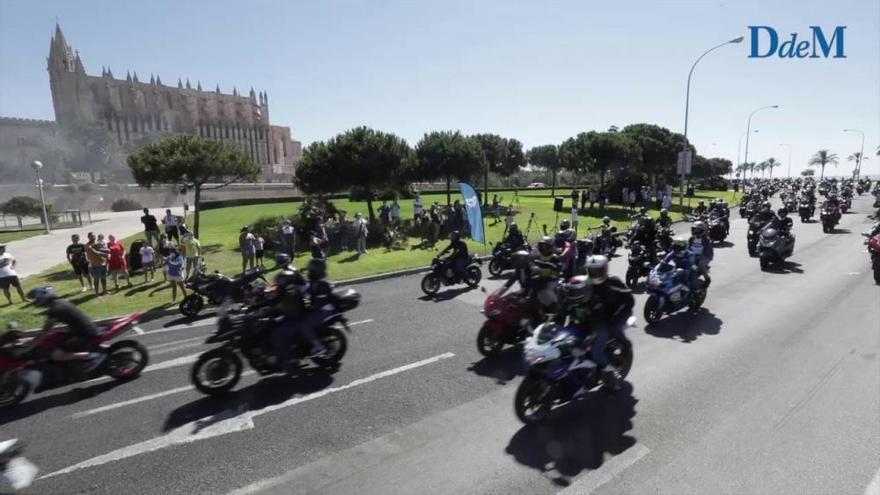 Tres mil motos rugen en memoria de Luis Salom