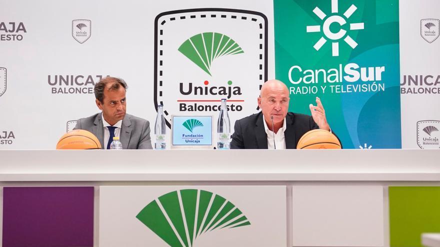 Unicaja Baloncesto y Canal Sur presentan el acuerdo para retransmitir en abierto la BCL