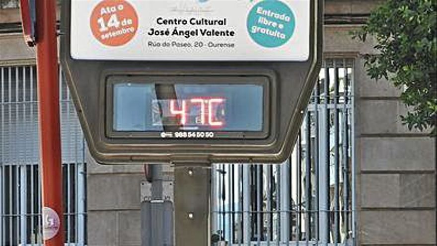 Ourense se abrasó a 40,4º y sigue activa la alerta amarilla por calor