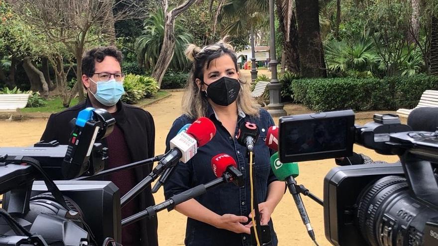 """Teresa Rodríguez llama """"pusilánime"""" a Juanma Moreno por """"ser el presidente de la patronal y enterrador"""" de Airbus"""