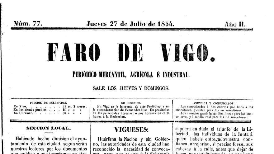O Día de Galicia a través das portadas de FARO DE VIGO