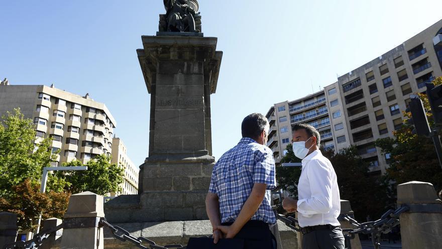 Vox reclama al Ayuntamiento de Zaragoza restaurar un monumento a la patria antes que el del Justicia