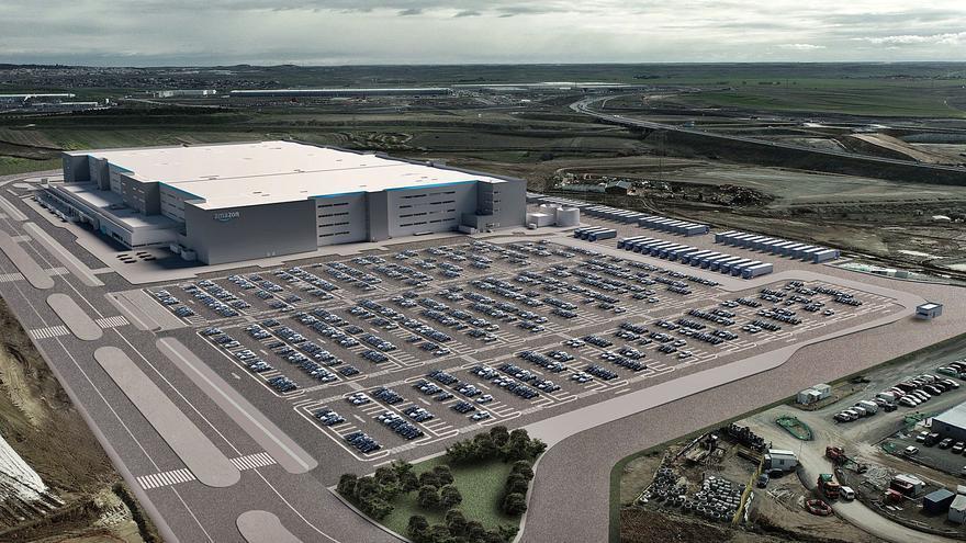 """Así son los """"gemelos"""" de Amazon en Sevilla y Toledo que avanzan el diseño del futuro complejo de Siero"""