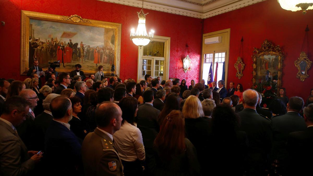 Acte institucional al Parlament durant el dia de les Illes Balears l'any passat.