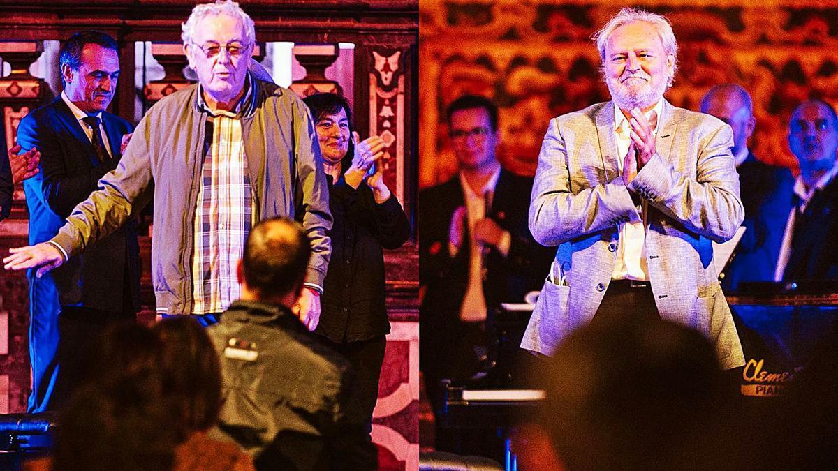 Toni Tordera i Pasqual Pastor després d'una representació. | LEVANTE-EMV