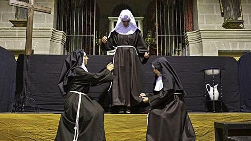 La historia del convento del Tránsito y de su imagen, dramatizada