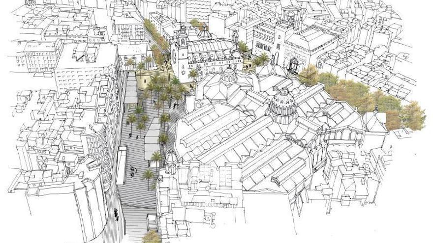 Las obras de Brujas y el Mercat ganarán 20.000 m2 para el peatón