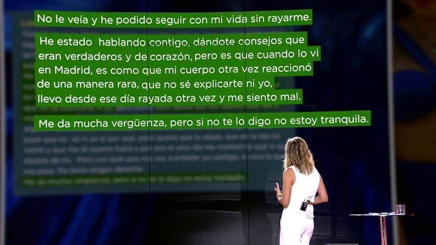 Sale a la luz el mensaje en el que Lucía le confiesa a Marina lo que siente por Isaac