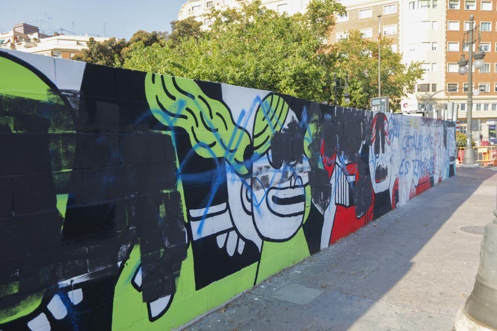 Borran el mural en favor de los condenados por los ataques de Alsasua