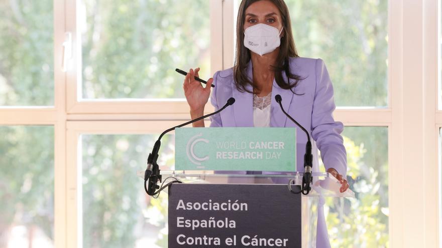 La Reina resalta la importancia de la colaboración en la investigación contra el cáncer