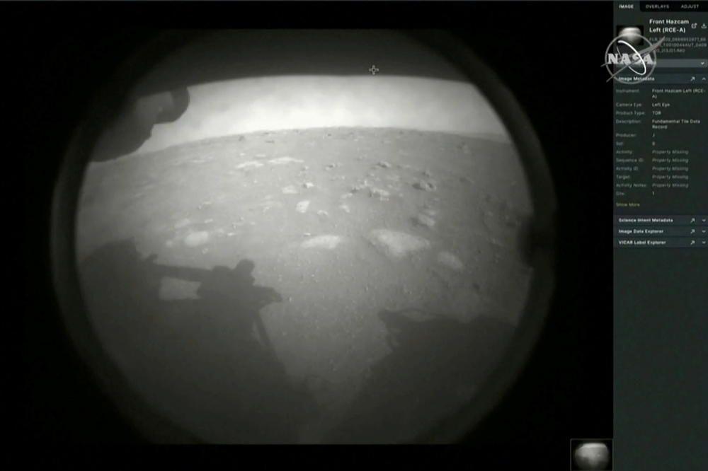 Primeras imágenes de Perseverance en Marte.