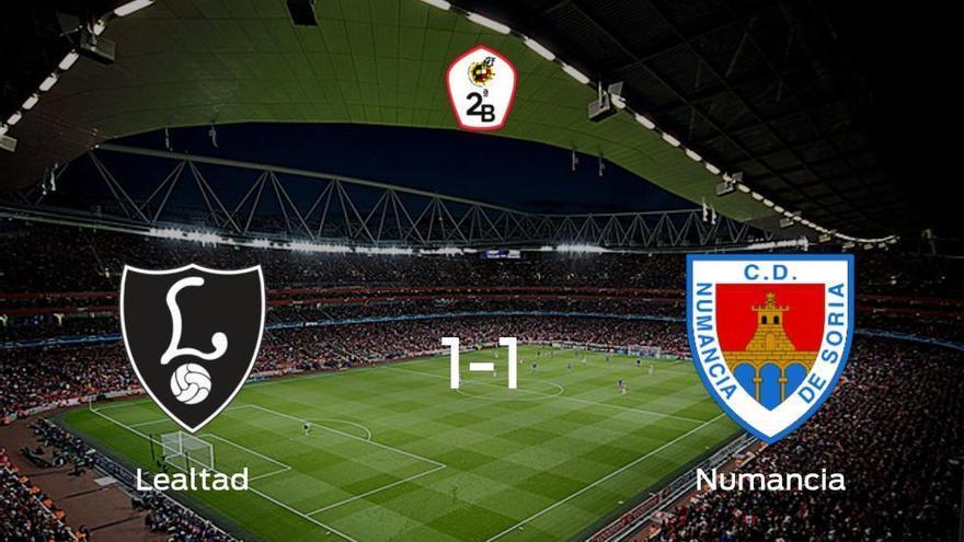 El Lealtad Villaviciosa y el Numancia empatan 1-1 y se reparten los puntos