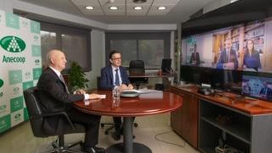 Los reyes se reúnen por videoconferencia con dirigentes de Anecoop