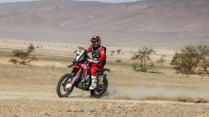 Joan Barreda, primer líder del Rally de Marruecos