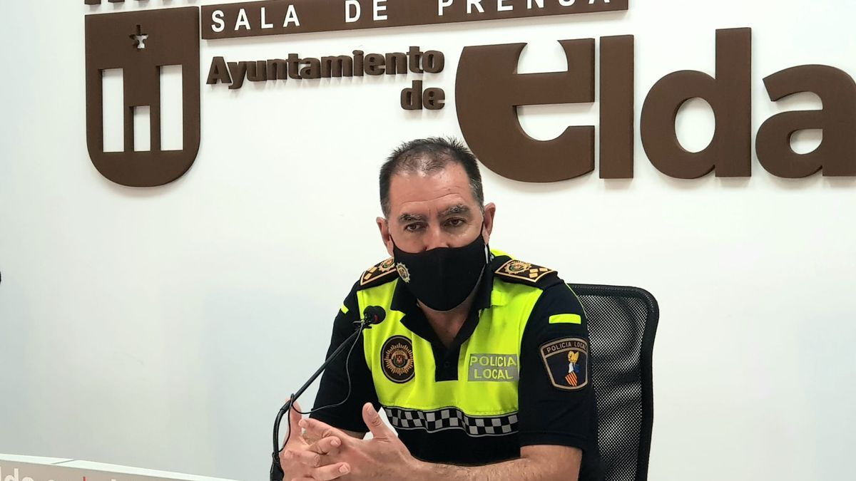 El comisario principal de la Policía Local de Elda, Francisco Cazorla.