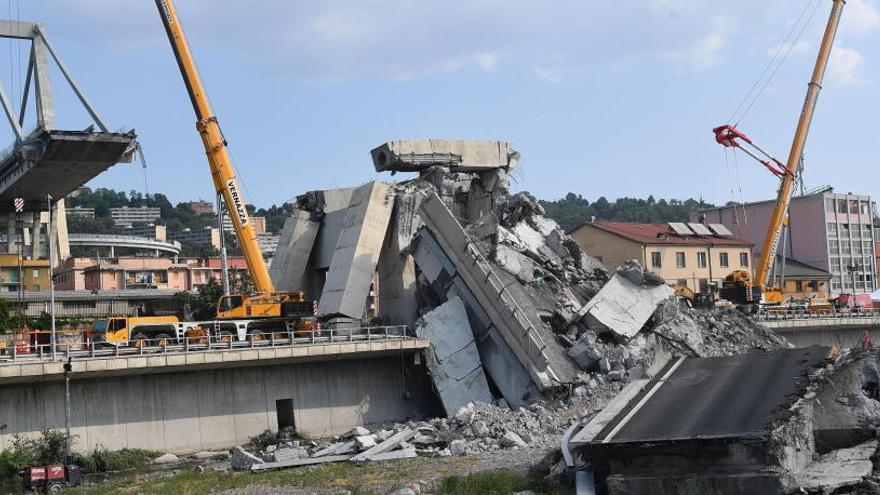 La comisión que investiga el derrumbe en Génova aconseja demoler el puente Morandi