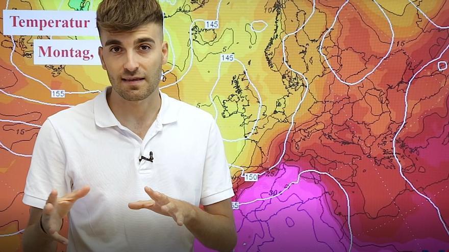 Von Tag zu Tag heißer - die Wettervorhersage für Mallorca im Video