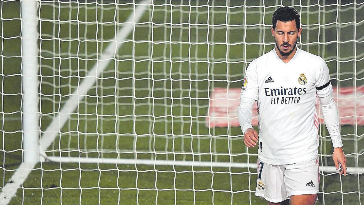Eden Hazard, en un partido tras su reaparición