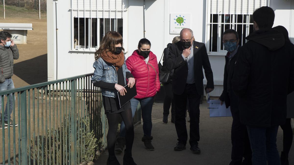 Visita del conseller Bargalló als centres educatius de Navàs