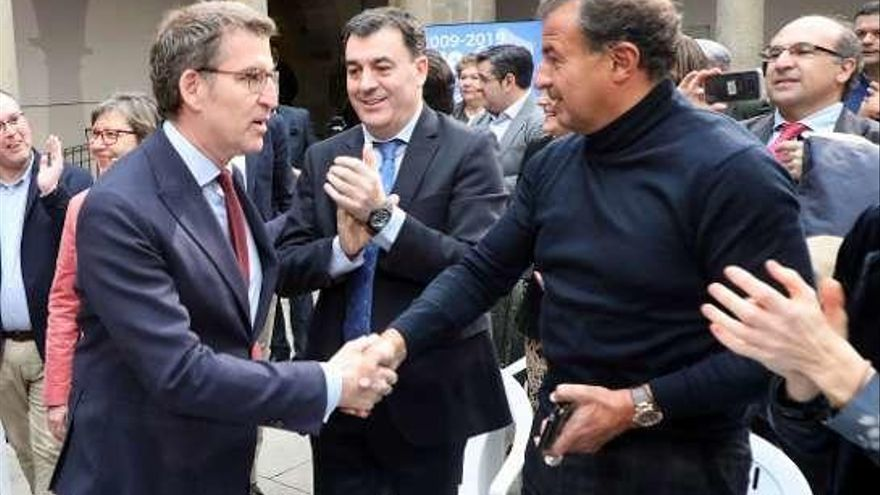 Javier Guerra reaparece con el PP en el décimo aniversario del triunfo de Feijóo en la Xunta