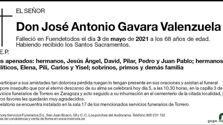 José Antonio Gavara Valenzuela
