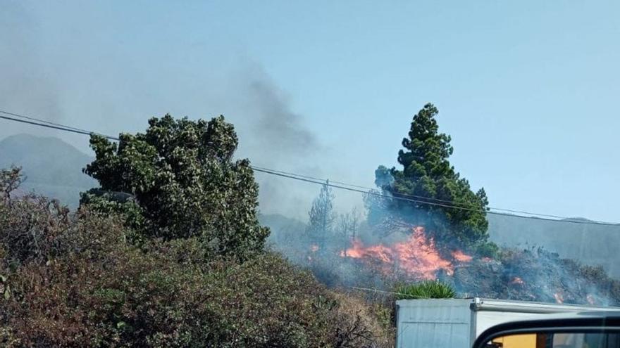 Incendio en el municipio palmero de El Paso.