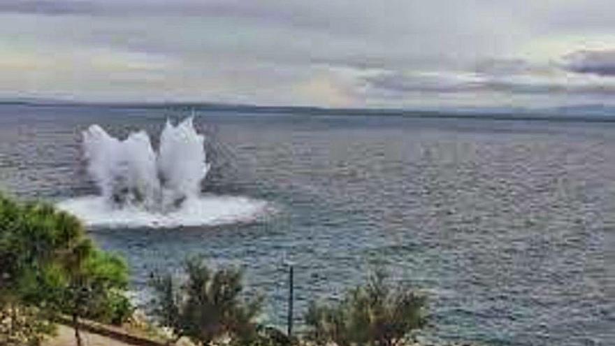 La detonació de la mina de Roses equival a un sisme d'1,3 graus