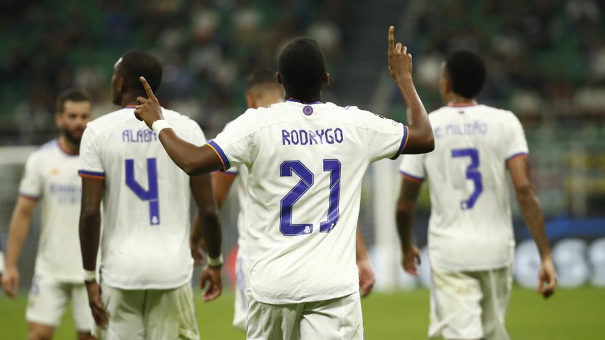 Rodrygo premia el sufrimiento del Real Madrid ante el Milán
