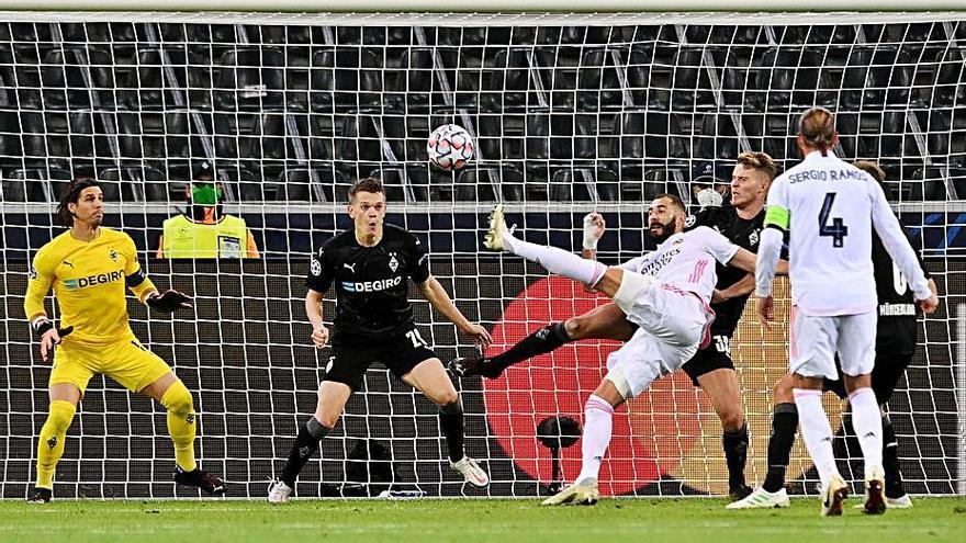 Casemiro y Benzema dan vida     al Real Madrid en la Champions