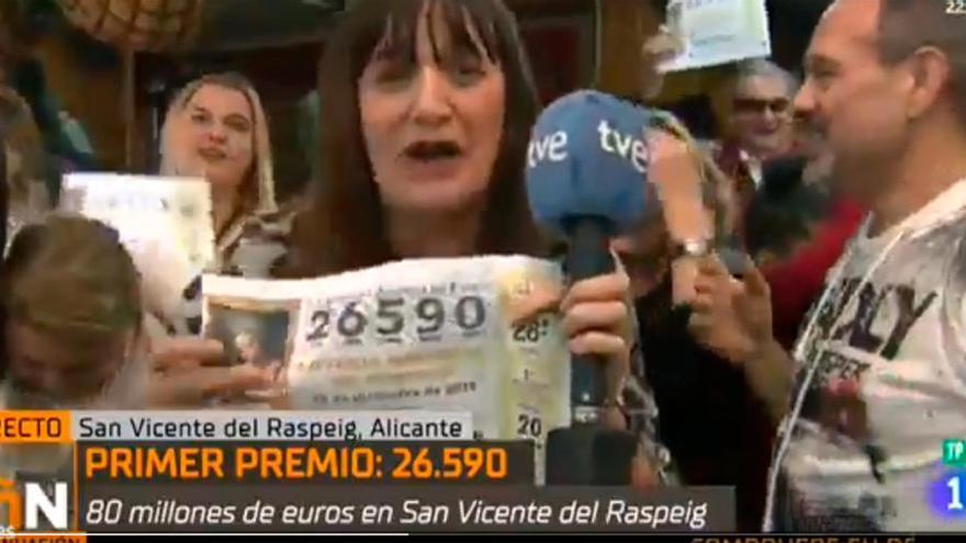 """La disculpa de la reportera de TVE que dijo que había ganado el Gordo:  """"Es triste que hoy sea la periodista manipuladora y mentirosa"""""""