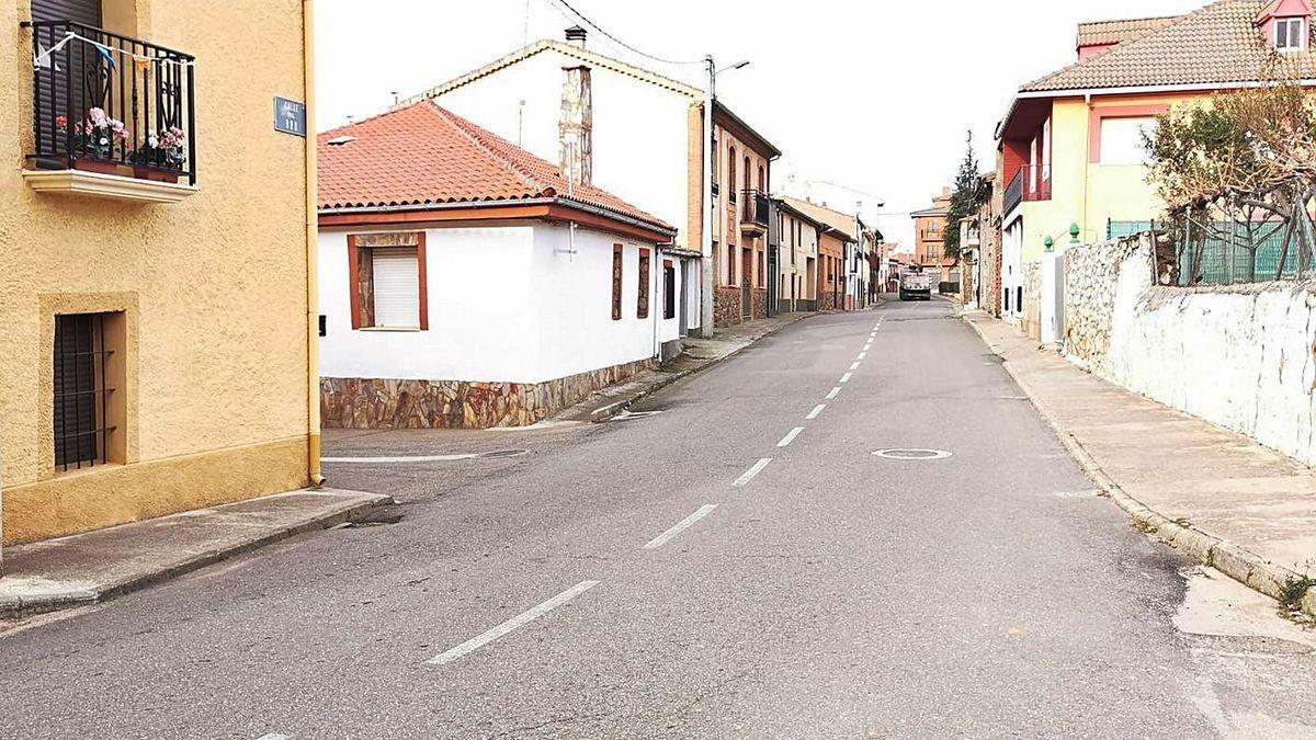 Una calle de Carbajales.