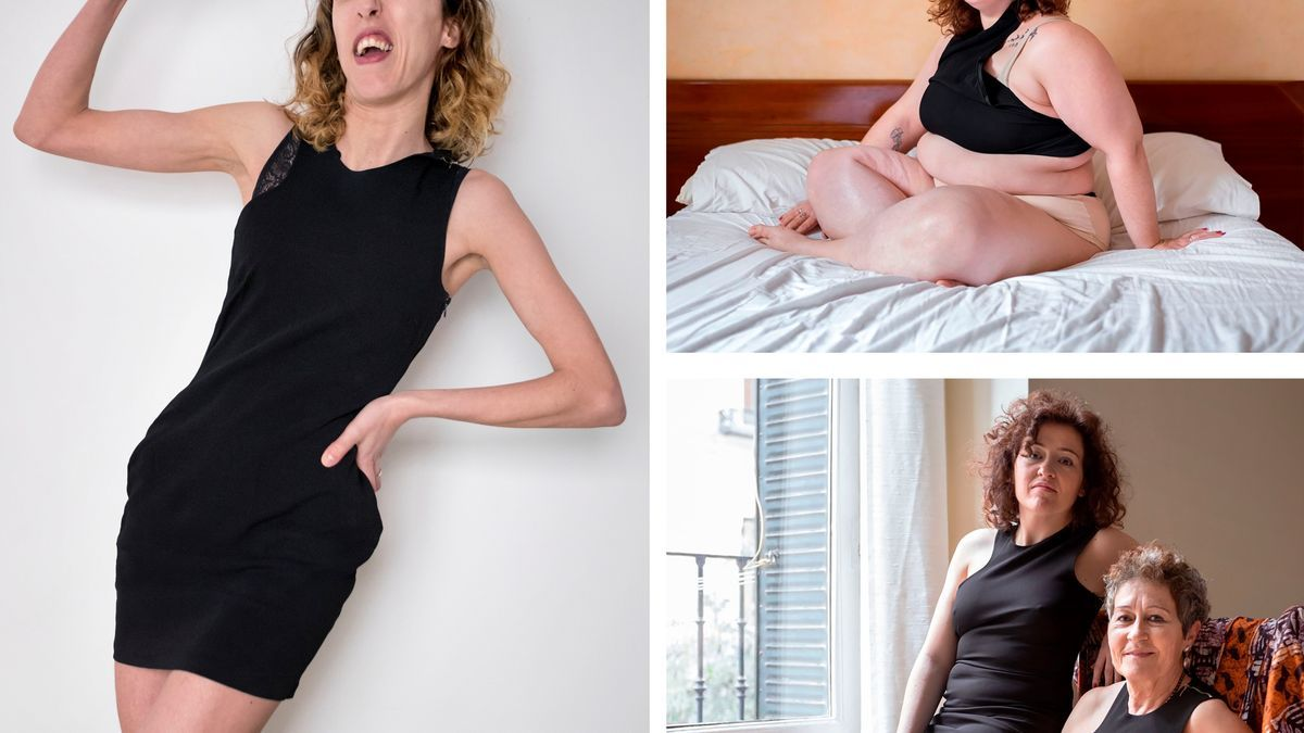 """Fotografías de la exposición """"Little black dress"""" que se colgarán en los balcones de la Xara"""