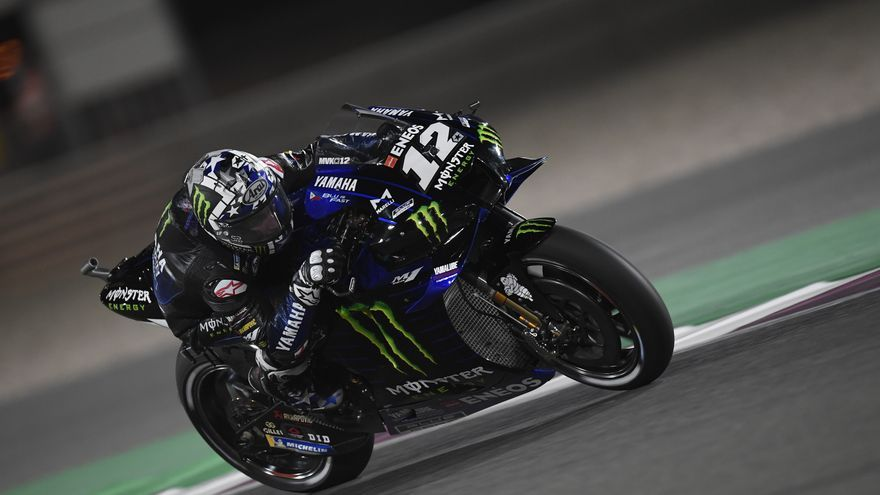 Maverick Viñales se exhibe en el GP de Qatar