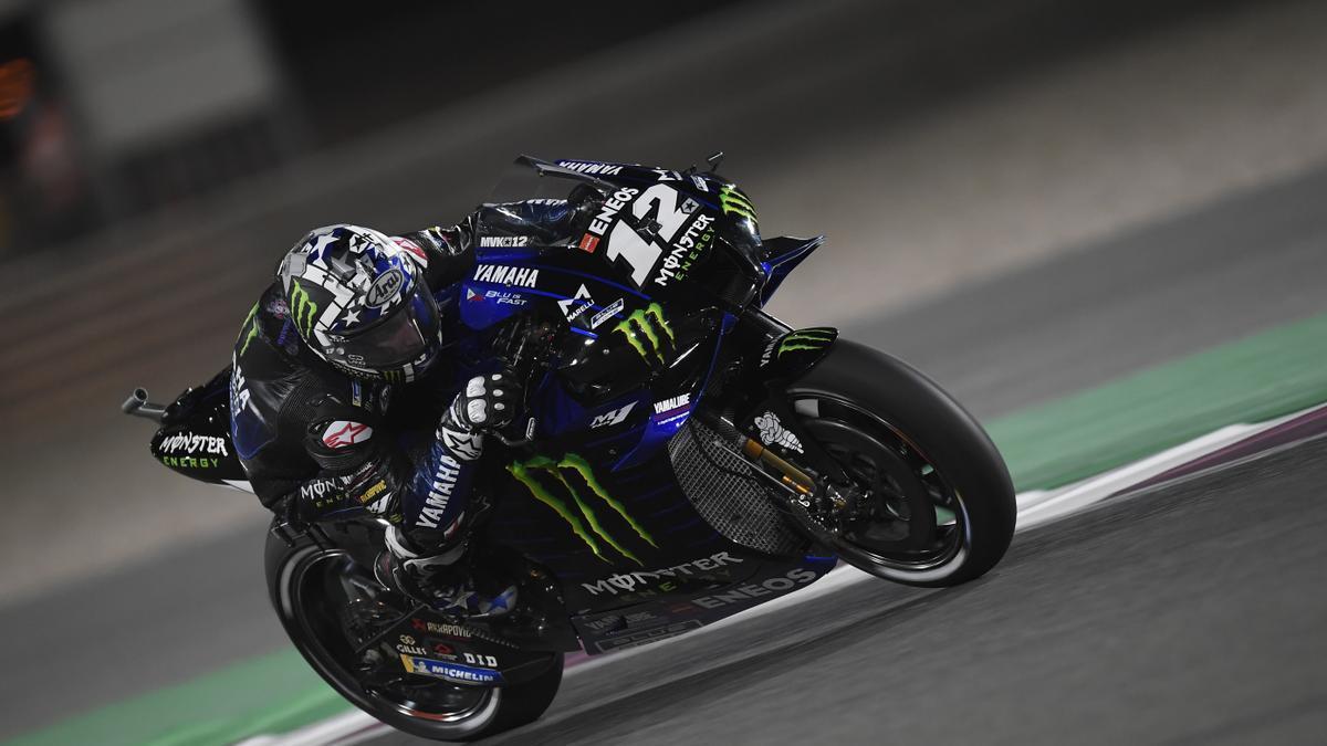 El piloto español de MotoGP Maverick Viñales.