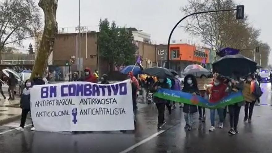 Manifestación por el 8M en la Asamblea Regional