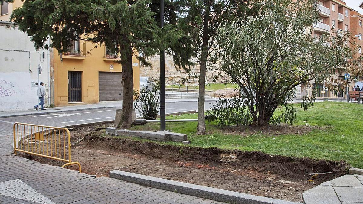 Obras en uno de los jardines de la capital efectuadas en 2019. | Javier de la Fuente