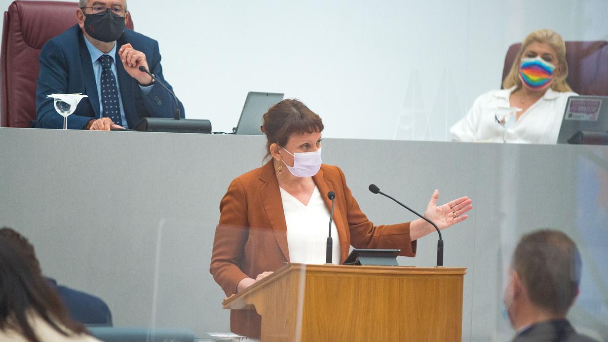 María Marín, este miércoles, en el debate del Estado e la Región