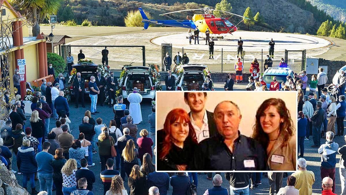 Funeral por las cuatro víctimas del accidente mortal en Canarias.