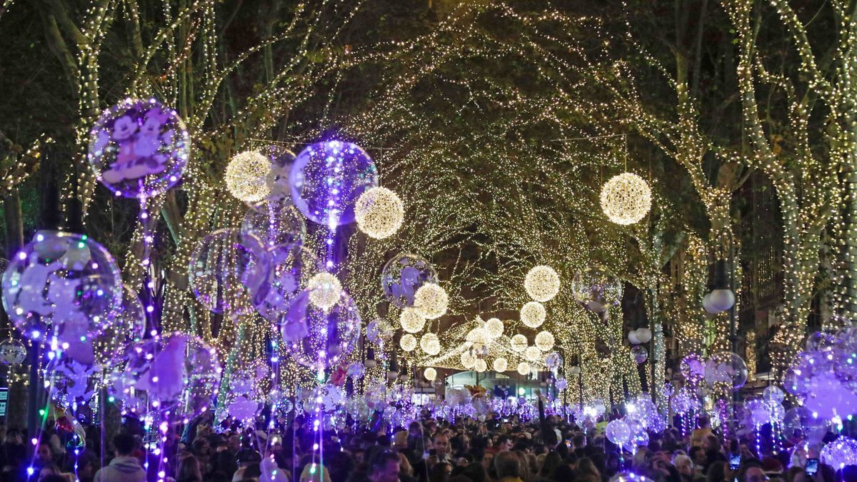 Encendido de las lunes de Navidad en Palma