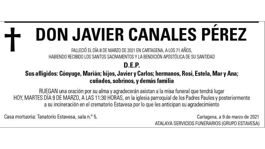 D. Javier Canales Pérez