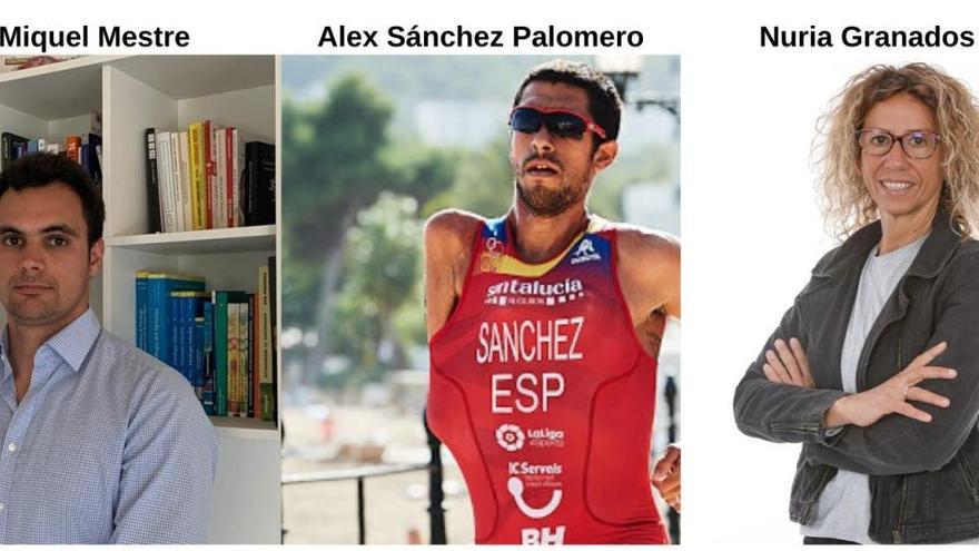 Alex Sánchez Palomero y la nutricionista del Mallorca, Nuria Granados, abogan por el abc del deporte y una nutrición saludable