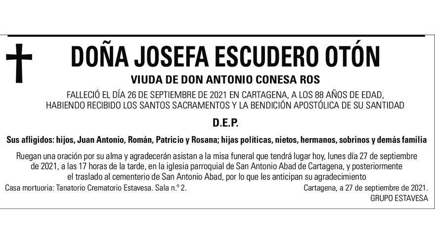 Dª Josefa Escudero Otón