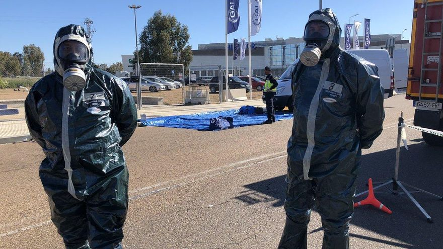 Simulacro de accidente radiológico transfronterizo en Badajoz