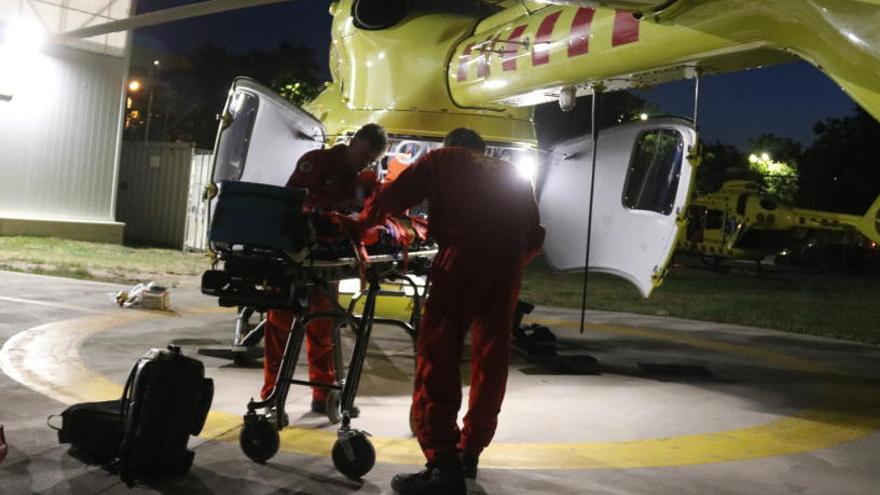 En marxa els treballs per adaptar l'heliport del Trueta als vols nocturns