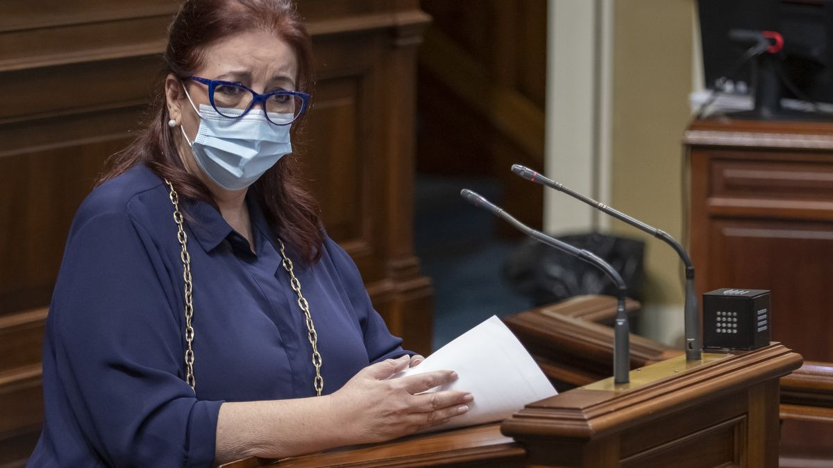Manuela Armas, in the Parliament of the Canary Islands in a file photo.