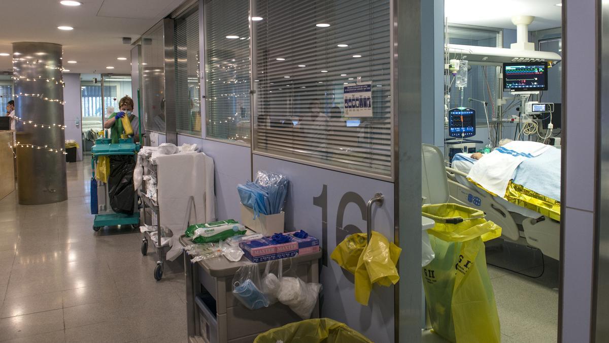 Una planta covid en un hospital de Madrid.
