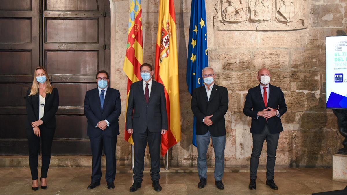 Presentación del congreso de directivos empresariales por parte de las instituciones.