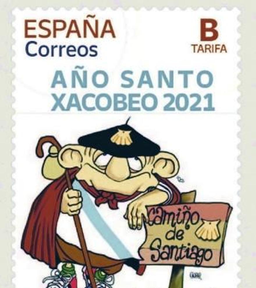 Floreano, imagen del Xacobeo en un sello